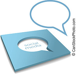 Social Media Speech Bubble box cut out - Social media speech...