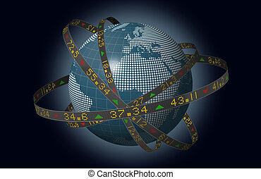 World markets with stocks - Stylized world markets with...