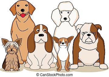 Dog cartoon  - dog cartoon