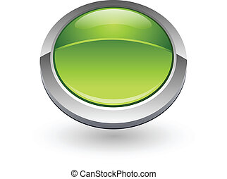 Green sphere button