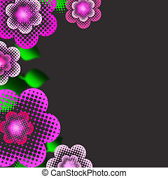 Beautiful background with pink flowers