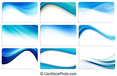 Blue waves - Dynamic blue waves background cards, abstract...