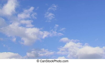 Blue sky - Beautiful blue sky with clouds Background