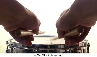 Snare Drum Roll - A snare drummer does a marching snare drum...