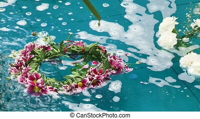 Fountain with flowers