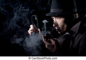 Private Eye - Private detective searching for information,...
