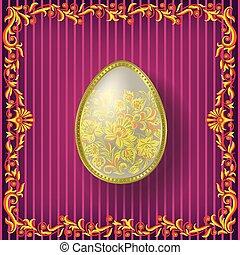 Floral Easter background