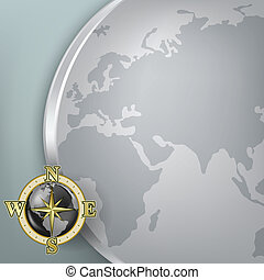 Abstract business background with globe
