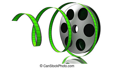 Film Roll - Illustration of a film roll opened isolated