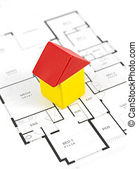 House Plans - House plans isolated against a white...