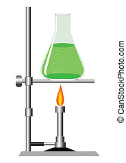 Laboratory - Stock vector of laboratory equipment