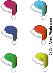 Caps for Santy - vector