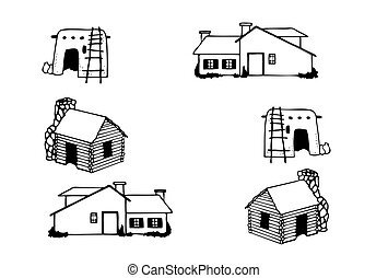 Houses different - Vector