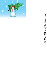 Snowmen a vector