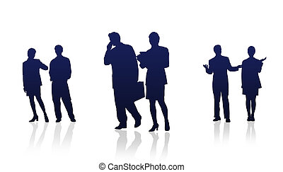 Business People - High Resolution graphic of business people...