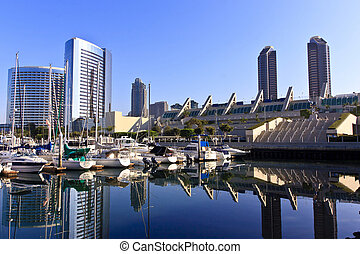 San Diego City Skyline - San Diego city skyline showing the...