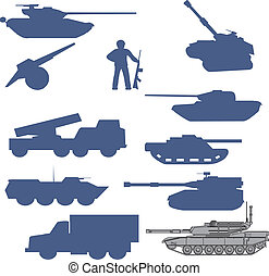 set tanks collection - vector - Collection set of tanks of...