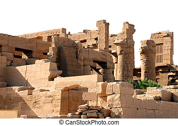The Karnak temple in Egypt - stone Karnak temple in Luxor in...