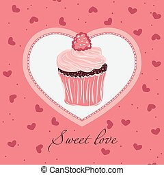 Sweet love. Template  design for card