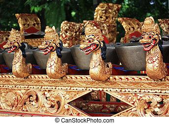 Balinese Gamelan - Stock photo of Balinese traditional music...