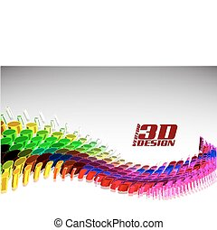 3d doted - abstract 3d doted background, vector theme