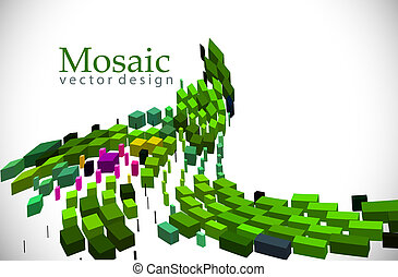 3d mosaic background