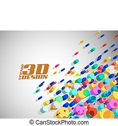 Abstract colorful particles background
