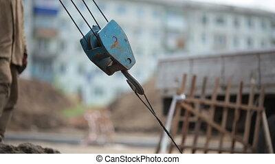 Crane hook under loading