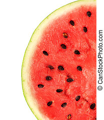 Watermelon - Red sweet watermelon. Isolated over white