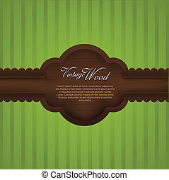 realistic wooden vintage frame with copyspace