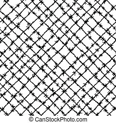 Barbed wire woven