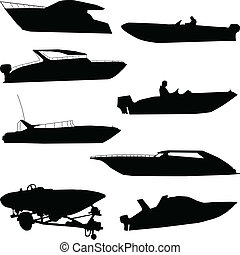 Various speedboats