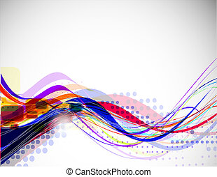 abstract  wave line