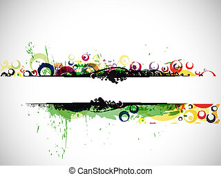 Abstract colorful banner background with space of your text....