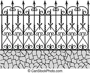 Wrought iron fence-1