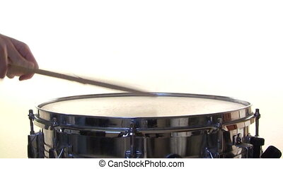 Various Snare Drum Patterns - A snare drummer does a snare...