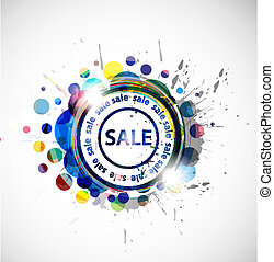 grunge sale banner, shopping concept grunge vector...