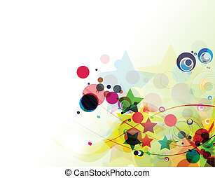 abstract rainbow wave line background vector illustration