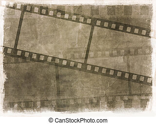 Grunge film strip background - Dirty grunge background with...
