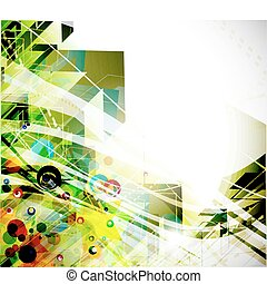 abstract colourful backgroung - abstract colorful arrow wave...