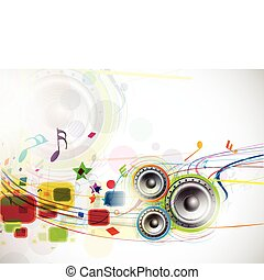 Music Background - abstract music loudspeakers background,...