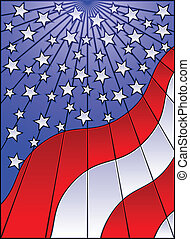 Stained glass flag