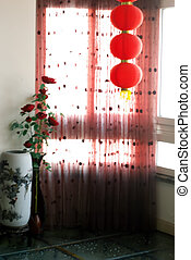 Oriental style interior decoration - Taken in Wenzhou City,...
