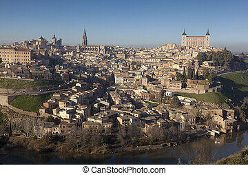 Panoramic of Toledo, Castilla la Mancha, Spain
