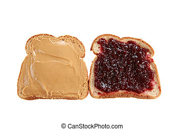 peanut butter and jelly sandwich - two slices of whole wheat...