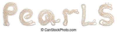 Word Pearls set of perls on a white background
