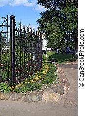 flowerses near fence