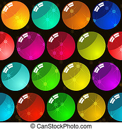 Background with glass multicolor balls - Abstract elegance...