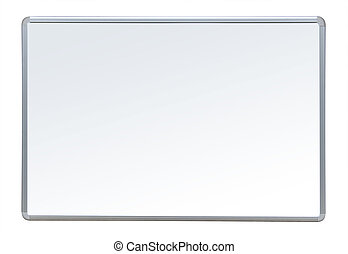 Whiteboard on white, isolated with clipping path