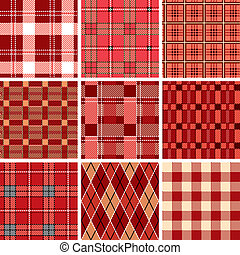 Seamless red check pattern - Illustration vector